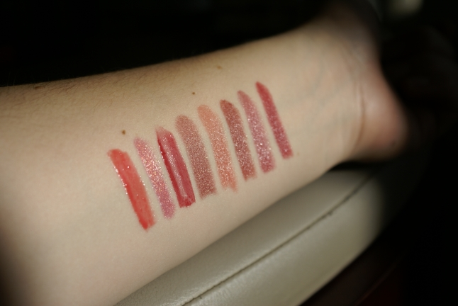 Swatches of my favorite fall lip colors